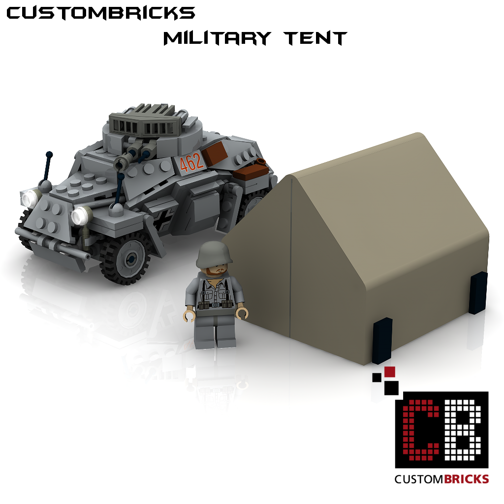 Custombricks Lego Ww2 Wwii Militr Zelt Tent Plane