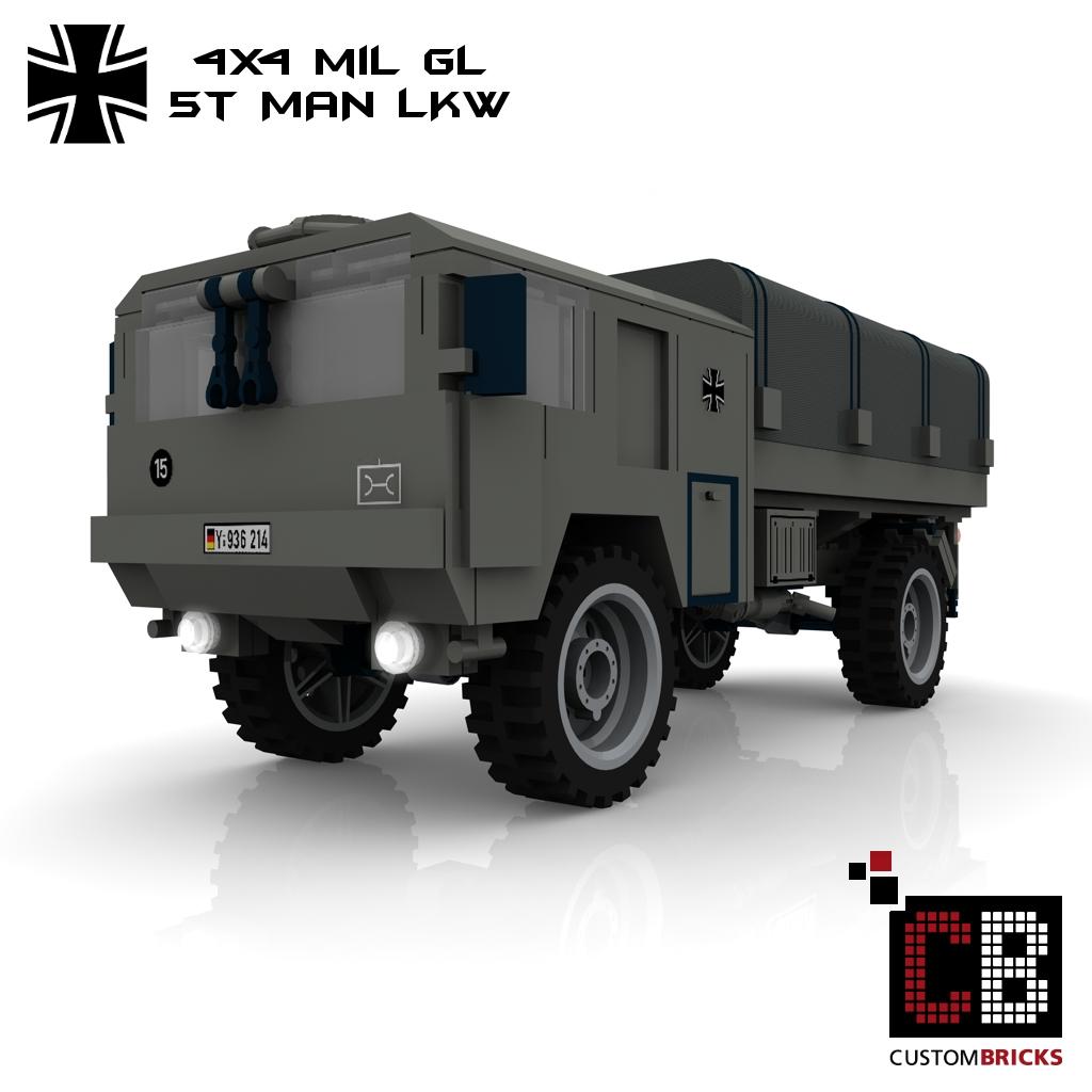 lego custom moc bundeswehr man lkw 5t. Black Bedroom Furniture Sets. Home Design Ideas