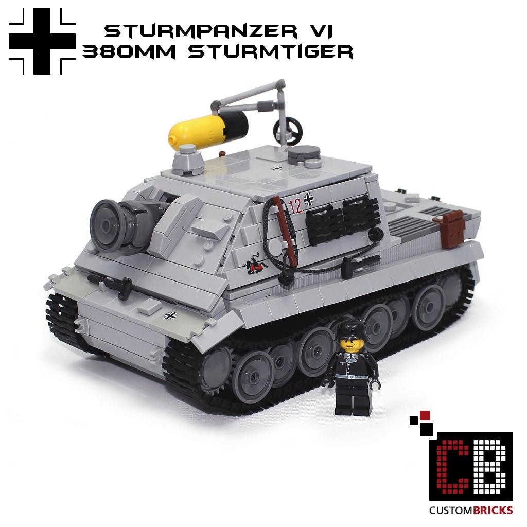 custombricks de lego ww2 wwii panzer tank sturmtiger sturmpanzer