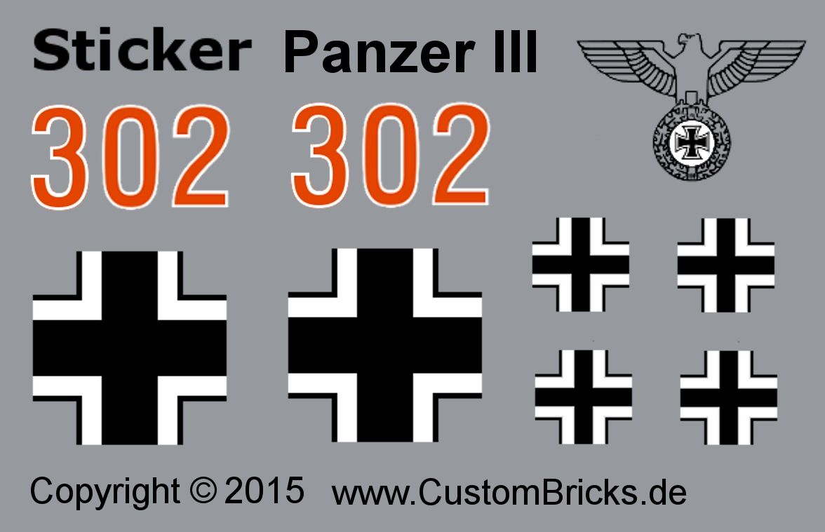 CUSTOMBRICKS de - LEGO WW2 WWII Wehrmacht Panzerkampfwagen