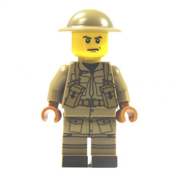 WW2 Soldier of the British UV printed out of LEGO® Dark TAN