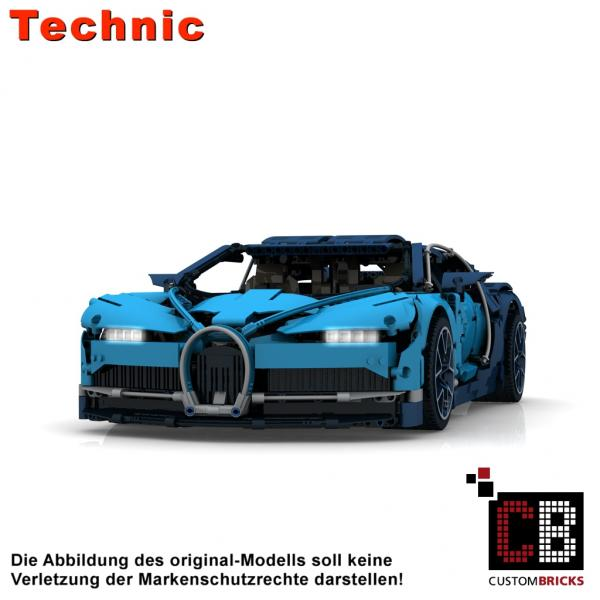 Custombricks Lego Technic Model Custom Bugatti Rc Modification