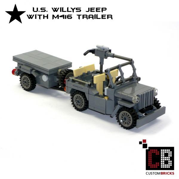 Custombricks Lego Ww2 Wwii Wehrmacht Willys Jeep Mit M416