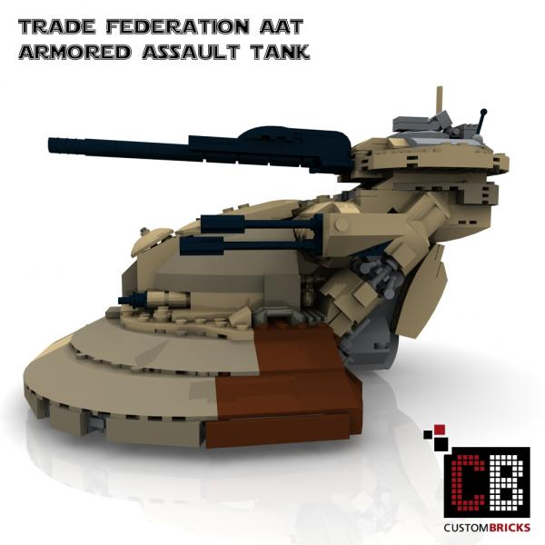 Custombricks Lego Custom Star Wars Aat Tank