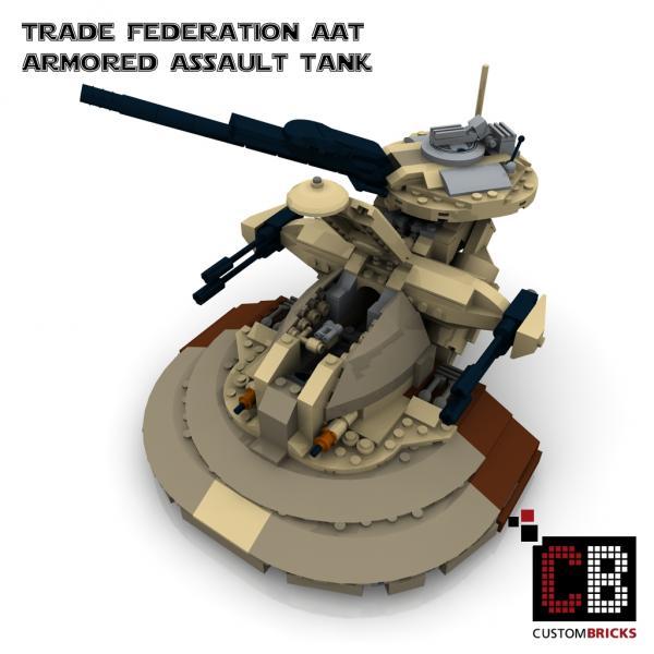 Custombricks Lego Custom Star Wars Aat Tank
